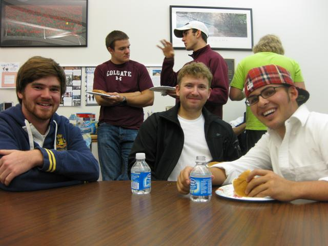 Mark Miller '11, Carson Carlisle '11, and Evan Zimmerman '11