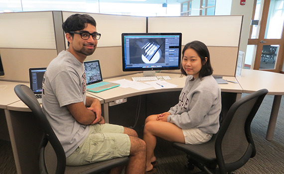 Prof. Fourquet mentors research students in graphics