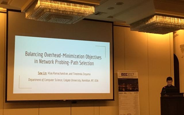 Saw Lin '17 presents summer research at IEEE ISCC 2017