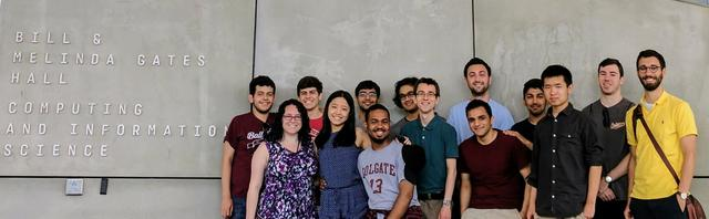 Summer research students and faculty visiting Cornell University