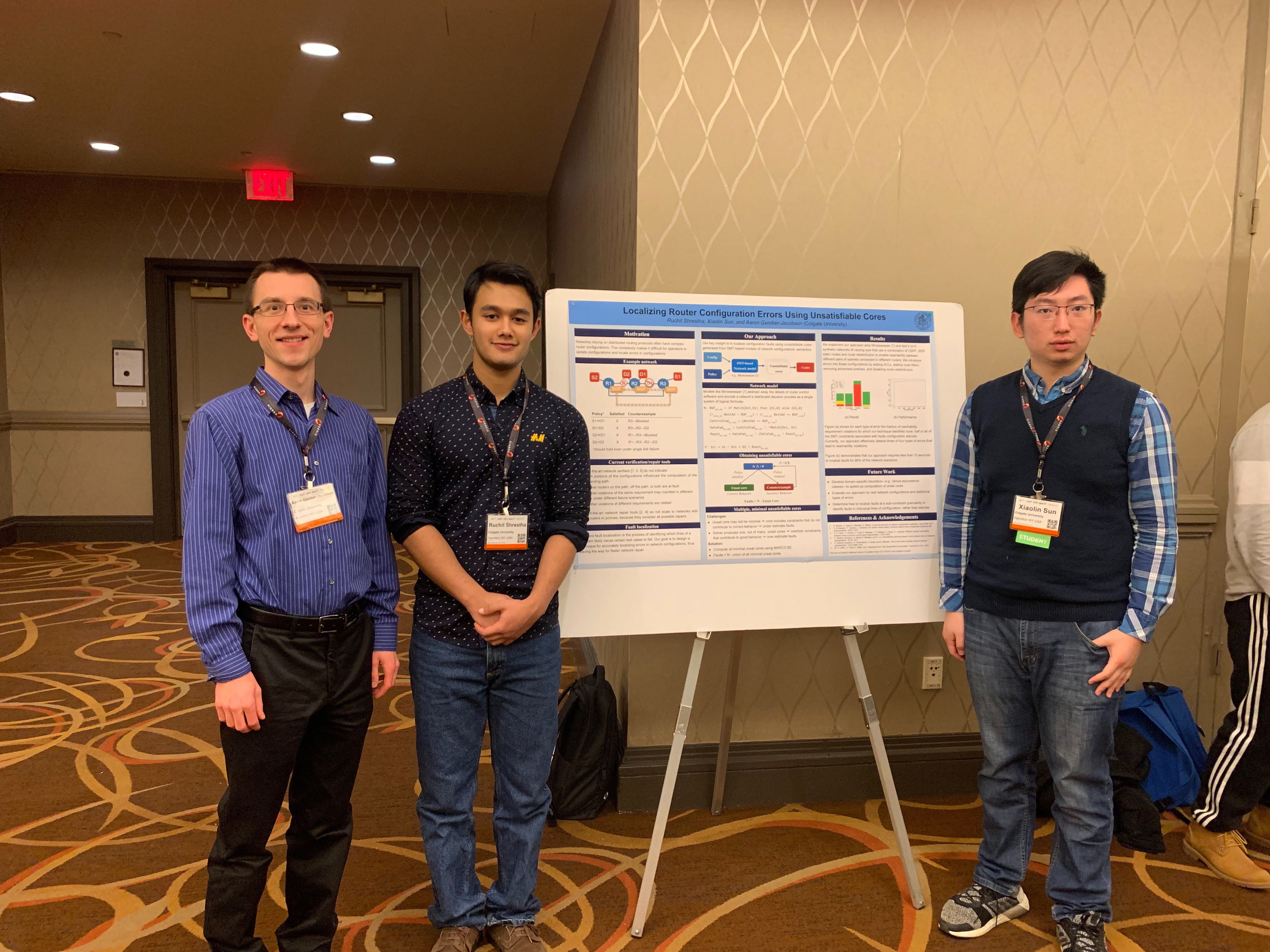 Students and Faculty present research at NSDI 2019
